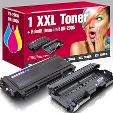 1 Toner+Trommel für Brother HL2030 MFC7420 FAX2820 DCP7010 TN-2000 DR-2000