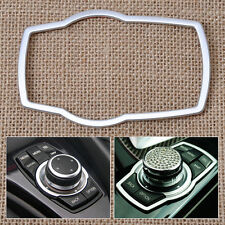 Silver For BMW1 3 4 5 7 Series X1 X3 X4 X5 X6 2013 Multimedia Buttons Cover Trim