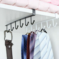 6 Hooks Under-Cabinet Hanger Rack Cupboard Storage Kitchen Shelf Hook Ring