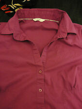 Pink - Purple Fuschia Short Sleeve Shirt by M&S in Size 18 - Chest 48""