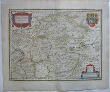 Nassau altkolor Orig Kupferstichkarte Mercator Hondius 1627 Rheinland Pfalz