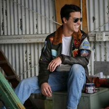 Tom Cruise Pete Maverick Top Gun Flight Bomber Real Leather Fashion Jacket