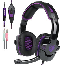 Universal Gaming Headset w Mic Volume Control, Compatible w PS4, PC, XBOX One