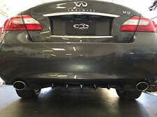 Infiniti M37 Sharkfin Rear Diffuser Pre-painted in matte black