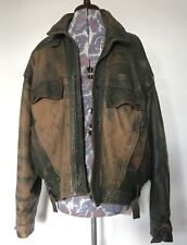 Vintage 80s Mens Distressed Leather Jacket