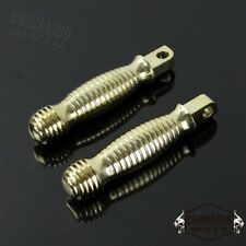 Brass Ribbed Knurled Foot pegs For Harley Road Glide Heritage Softail V-Rod Dyna