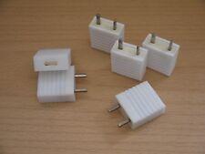 6 RFT Stecker für Antennen Erde Erdungsstecker KW LW MW Antennenstecker DDR