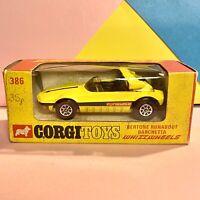 CORGI 386 BERTONE RUNABOUT BARCHETTA WHIZZWHEELS - EXCELLENT in original BOX