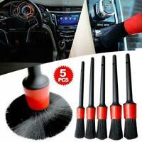 5pcs Car Detailing Brush Set Detail For Cleaning Wheels Vent Air Emblems Z3N5