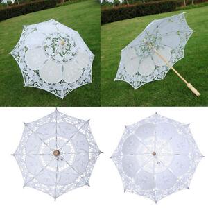 Mode Baumwolle Hohl Sonnenschirm Vintage Regenschirm Romantisch für Kostüm