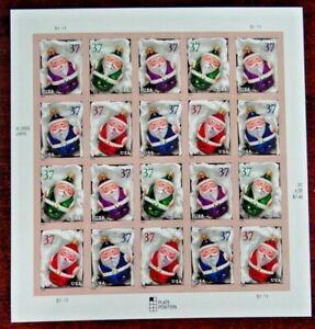Scott #3886a $0.37 Christmas - Santa Claus Orn Mint Sheet ( Face Value - $7.40 )