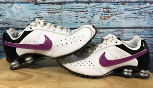 Womens NIKE SHOX Size 9 White And Purple