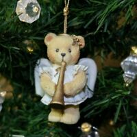 Cherished Teddies Enesco Vintage Angel with Trumpet Holiday Christmas Ornament