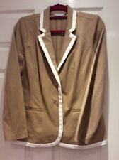Bnwot Jacket By Designer Isaac Mizrahi With Stretch Size Medium Light Camel .