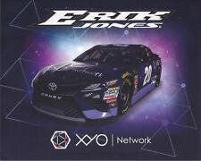 "2018 ERIK JONES ""XYO NETWORK"" #20 MONSTER ENERGY NASCAR HERO CARD POSTCARD"