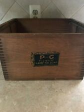 vtg  Proctor Gamble Ivory Soap wooden box 141/2'' x 11 1/2'' x 9''s tall appox.