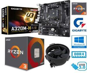 AMD RYZEN 3 1200 BUNDLE - 4 CORE - GIGABYTE A320M-H MOTHERBOARD