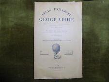 ATLAS UNIVERSEL DE GEOGRAPHIE V. de Saint-Martin  Schrader ESPAGNE PORTUGAL 1903