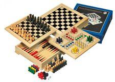 Holz-Spielesammlung für die Reise & unterwegs (Schach, Dame, Backgammon, etc.
