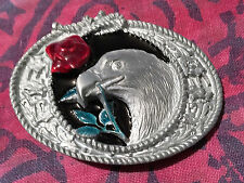 EAGLE ROSE BELT BUCKLE NEW