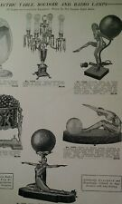 Lamp Radio Desk Table Coach 1931 Catalog Page Krower New Orleans Rare VHTF Art D