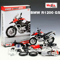 1:12 Scale BMW R 1200 GS DIY Alloy Metal Motorcycle Model Assembly Toy By Maisto