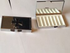 Iron Cross dr61 Fine English Pewter On Mirrored 7 Day Pill box Compact