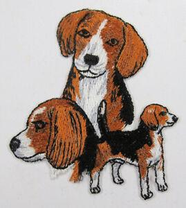 Beagle dog heat seal embroidered badge
