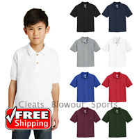 Boy's School Uniform Polo Shirts Dress Code 50/50 Blend Youth Wear S-XL 8800B
