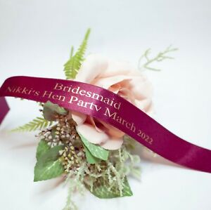 Personalised Hen Party Wristbands Hen Party ideas  Hen party bands Party favours