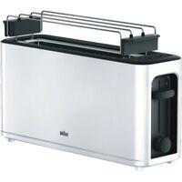 Braun Domestic Home HT 3110 WH PurEase Weiss Langschlitz-Toaster 1.000 Watt