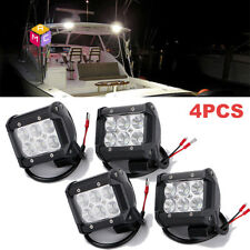4pc 12V Flood LED Oblong Courtesy Light Yacht Marine Boat Stair Deck Garden Lamp