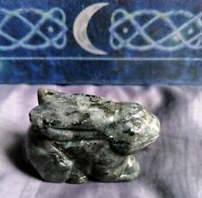 Black moonstone Larvikite pocket rabbit crystal healing spiritual support