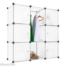 DIY Cubes étagère de rangement Armoire Penderie Meuble de Rangement placard Rack