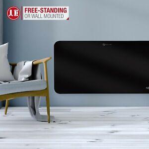 NETTA Electric Glass Panel Heater 1000W Wall Mounted / Portable Grade A - Black