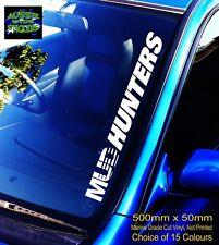 500mm MUD HUNTERS STICKER CAR 4x4 ute landcruiser hilux canopy Windscreen DECAL