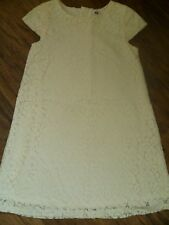 Girls pale cream lace style dress (age 7-8 years)