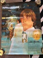 Original R2-D2 C-3PO Poster STAR WARS BURGER KING COCA-COLA 1977 Luke Skywalker