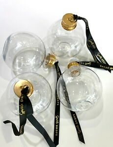 Empty 250ml PET Booze Baubles Ribbon & Screw Lid-Fill with Alcohol,Personalise