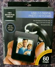 The Sharper Image USB 2.0 Digital Photo Key chain-Excellent BRAND NEW Black