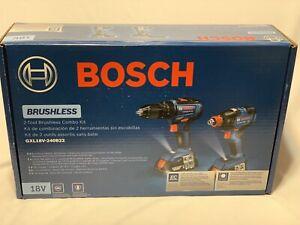 Bosch GXL18V-240B22 2-Tool Brushless Power Tool Combo Kit Batteries & Included