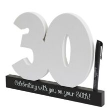 30th Birthday Signature Number In Wood, Great Guest Book Alternative