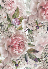 VINTAGE STYLE PEONIES ROSES FLORAL * LARGE A3 SIZE QUALITY CANVAS ART PRINT