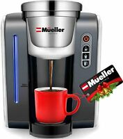 Mueller Single Serve Pod Compatible Coffee Maker K-cup - 4 Brew Sizes WHITE