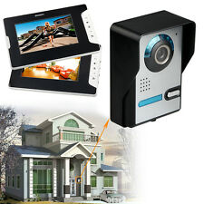 2 Video Monitor Klingel Türsprechanlage Edelstahl mit Kamera Türklingel Doorbel