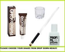 REFECTOCIL para cejas y pestañas Set: tinte 15ML + 3% OXIDANTE 60ML+ Pincel + De Vidrio