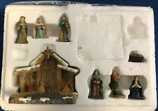 """2003 Hawthorne Village Miniature Cre'che """"The First Noel"""""""