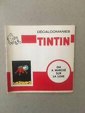 Tintin : On a marché sur la Lune - Décalcomanies années 60' - TBE/NEUF