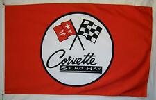 Corvette Sting Ray Car Flag 3' X 5' Red Indoor Outdoor Automotive Banner