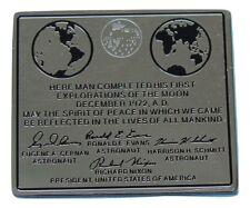 NASA Winco PIN - APOLLO 17 XVII lunar moon plaque EVANS CERNAN SCHMITT Official